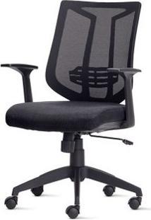Cadeira Aika Diretor Assento Crepe Preto Base Piramidal Em Nylon - 54795 Sun House