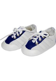 Tênis Sport Sapatinhos Baby Azul E Branca
