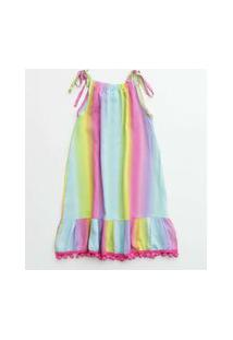 Vestido Infantil Saída De Praia Tie Dye Marisa Tam 4 A 10