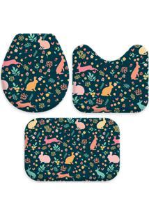Jogo Tapetes Love Decor Para Banheiro Cute Color Easter Único