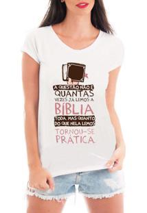 Camiseta Criativa Urbana Bíblia Branca - Tricae