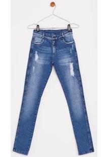 Calça Jeans Express Infantil Jorge - Masculino-Azul