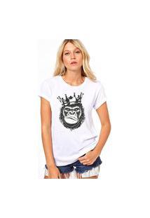 Camiseta Coolest King Monkey Branco