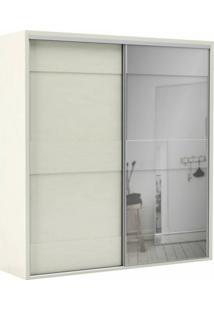 Guarda-Roupa Casal Com Espelho Reims 2 Pt 2 Gv Off White