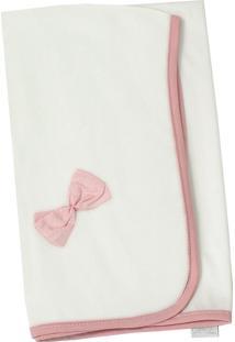 Manta Enxoval De Malha Padroeira Baby Floral Luxo Rosa