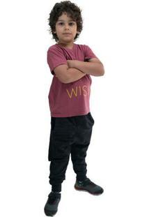 Calça Infantil Saruel Comfy Masculino - Masculino-Preto