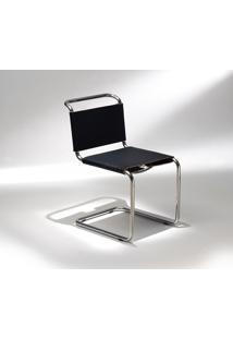 Cadeira Spoleto Couro Preto
