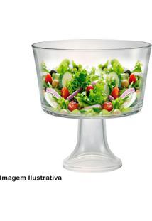 Saladeira De Vidro Com Pé Lucca 1,4L - 29481