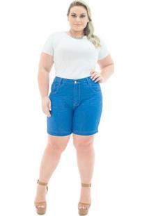 c46b6541e Shorts Confidencial Extra Jeans Missy Médio Com Lycra Plus Size - Feminino
