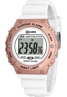Relógio Digital Quartz Xfppd057Bxbx- Branco & Rosê-Xorient
