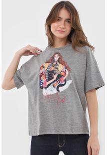Camiseta Colcci Love Is Cat Grafite - Kanui