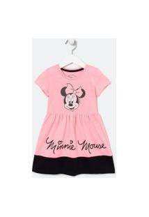 Vestido Infantil Minnie - Tam 1 A 6 Anos | Minnie Mouse | Rosa | 01