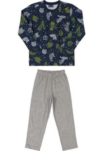 Pijama Infantil Constelação Azul