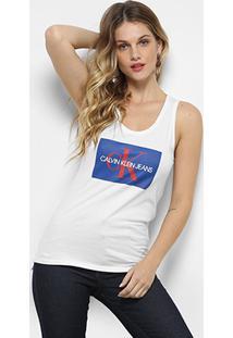 14baf42bb08aa Regata Calvin Klein Estampada Feminina - Feminino