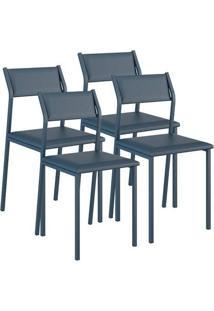 Cadeira 1709 Color Uv 04 Unidades Napa/Azul Noturno Carraro