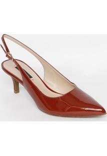 ab5ded6d3 Sapato Chanel Em Couro- Vermelho Escuro- Salto: 6Cmjorge Bischoff