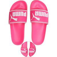 625af89c985 Chinelo Slide Puma Logo Rosa
