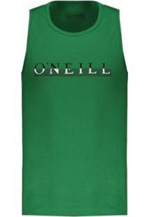 Regata O'Neill Estampada Masculina - Masculino-Verde
