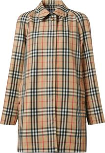 Burberry Vintage Check Car Coat - Neutro