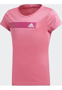 Camiseta Infantil Adidas Treino Cool Feminina - Feminino-Rosa