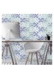 Papel De Parede Autocolante Rolo 0,58 X 3M - Azulejo Borboleta Flores 287040371