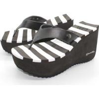 f1a63c3e44 Tamanco Sorvete Barth Shoes Listras - Feminino-Branco+Preto