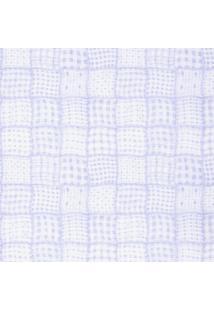 Papel De Parede Figuras Azul Quadriculado 8029 Bobinex