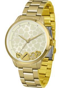 Relógio Analógico Lince Feminino - Lrg4571L C1Kx Dourado