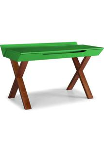 Escrivaninha Studio Cor Cacau Com Verde - 28950 - Sun House