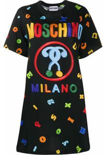 Moschino Camiseta Com Estampa De Logo - Preto