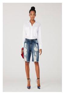 Bermuda Fem Jeans Medio