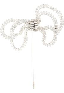 Nº21 Crystal-Embellished Brooch - Prateado