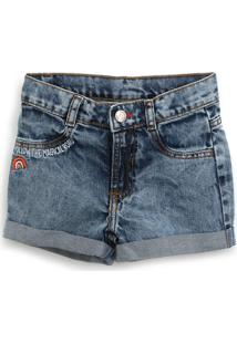 Bermuda Jeans Hering Kids Infantil Lisa Azul