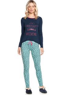 Pijama Esmeralda C/ Legging - M578 Verde Lambreta/G