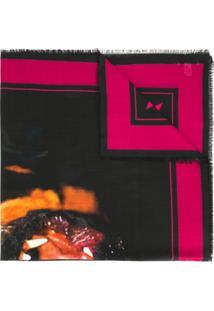 Givenchy Echarpe Com Estampa De Rottweiler - Preto