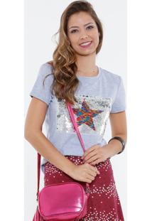 Blusa Feminina Paetês Dupla Face Marisa