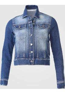 Jaqueta Jeans Malwee Estonada Azul - Kanui