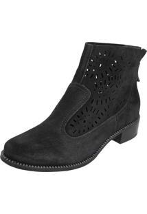 Bota Camurça Dafiti Shoes Geane Preta