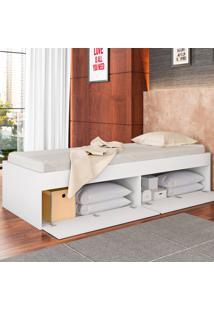 Cama De Solteiro Tókio 4 Portas Cm900 Branco - Art In Móveis