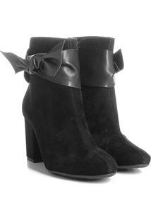 Ankle Boot Azaleia Com Detalhe Em Amarração - Feminino