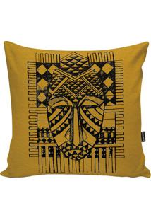Capa Para Almofada African- Amarela & Preta- 45X45Cmstm Home