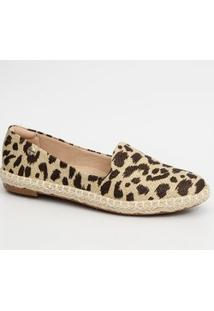 Sapatilha Feminina Slipper Animal Print Modare