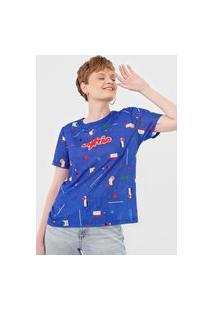 Camiseta Cantão Bauhaus Azul