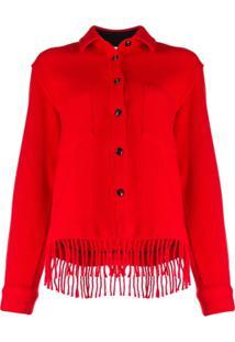 Woolrich Jaqueta Slim Com Franjas - Vermelho