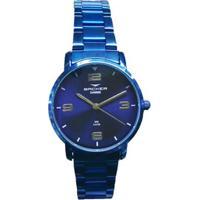 fc296be5a19 Relógio Feminino Backer Analógico 10269113F-Az - A - Unissex-Azul