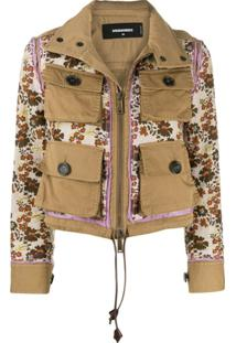 Dsquared2 Buttoned Front Pocket Jacket - Neutro
