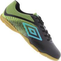 Centauro. Chuteira Futsal Umbro Snake In - Adulto - Preto Verde Cla e18807179d21e