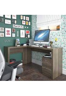 Mesa Para Computador/Escrivaninha 2 Gavetas Space Carvalho - Urbe Móveis