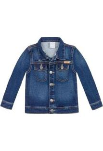 Jaqueta Jeans Infantil Masculino Play Jeans Hering Kids - Masculino-Azul