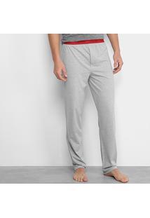 f8fa0631b Calça De Pijama Calvin Klein Elástico Estampado Masculina - Masculino-Mescla